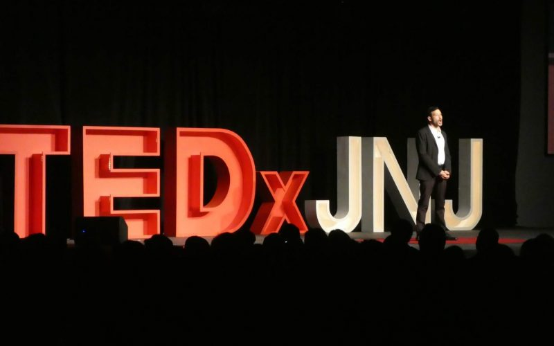 zach schleien speaking at tedx on mental health